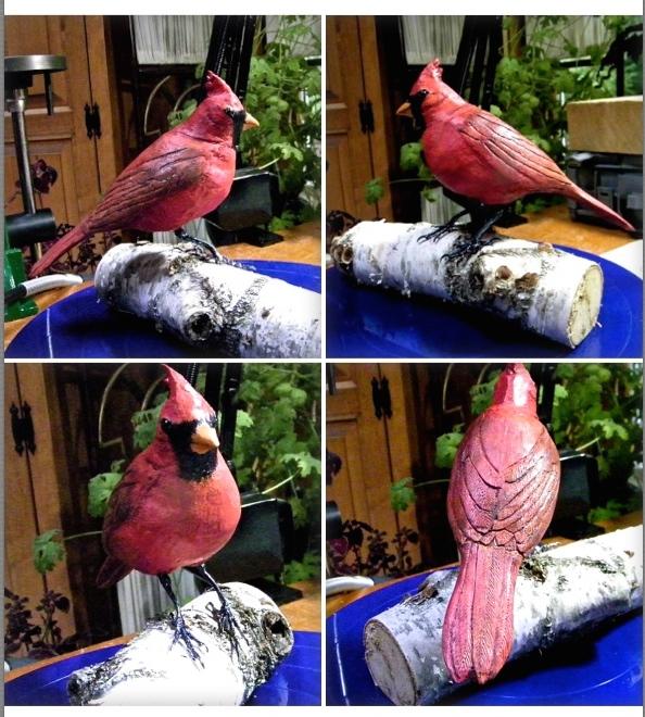 """""""Cardinal on Birch"""""""