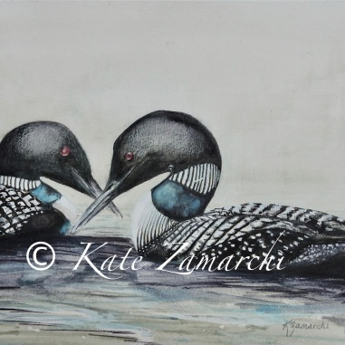 """""""Too Loon"""" watercolor 8x10"""" available in prints only"""
