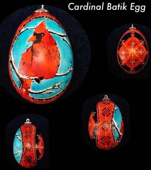 Cardinal Egg Ornament